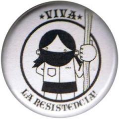 """Zum 25mm Button """"Viva la Resistencia!"""" für 0,80 € gehen."""