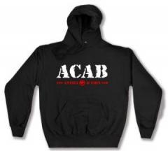 """Zum Kapuzen-Pullover """"ACAB Antifa Action"""" für 27,00 € gehen."""