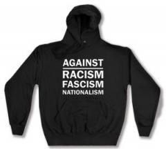 """Zum Kapuzen-Pullover """"Against Racism, Fascism, Nationalism"""" für 27,29 € gehen."""