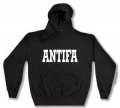 """Zum Kapuzen-Pullover """"Antifa Schriftzug"""" für 28,00 € gehen."""