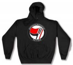 """Zum Kapuzen-Pullover """"Antifaschistische Aktion - linksjugend [´solid]"""" für 30,00 € gehen."""