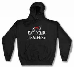 """Zum Kapuzen-Pullover """"Eat your teachers"""" für 30,00 € gehen."""