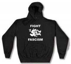 """Zum Kapuzen-Pullover """"Fight Fascism"""" für 27,29 € gehen."""