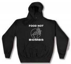 """Zum Kapuzen-Pullover """"Food Not Bombs"""" für 27,00 € gehen."""