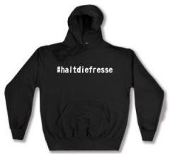 """Zum Kapuzen-Pullover """"#haltdiefresse"""" für 26,32 € gehen."""