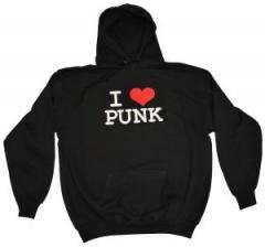 """Zum Kapuzen-Pullover """"I love punk"""" für 30,00 € gehen."""