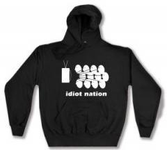 """Zum Kapuzen-Pullover """"Idiot Nation"""" für 28,00 € gehen."""
