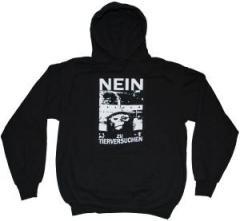 """Zum Kapuzen-Pullover """"Nein zu Tierversuchen"""" für 27,00 € gehen."""