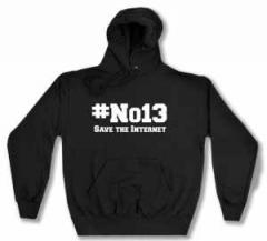 """Zum Kapuzen-Pullover """"#no13"""" für 28,00 € gehen."""