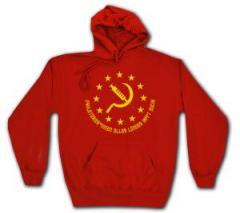 """Zum Kapuzen-Pullover """"Proletarier aller Länder impft Euch!"""" für 28,00 € gehen."""