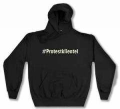 """Zum Kapuzen-Pullover """"#Protestklientel"""" für 28,00 € gehen."""