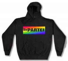"""Zum Kapuzen-Pullover """"Regenbogen-PARTEI-Logo"""" für 29,24 € gehen."""