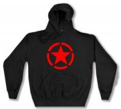 """Zum Kapuzen-Pullover """"Roter Stern im Kreis (red star)"""" für 27,00 € gehen."""