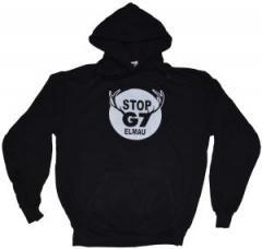 """Zum Kapuzen-Pullover """"Stop G7 Elmau"""" für 28,00 € gehen."""