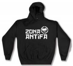 """Zum Kapuzen-Pullover """"Zona Antifa"""" für 28,00 € gehen."""