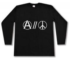 "Zum Longsleeve ""Anarchy and Peace"" für 13,00 € gehen."