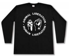 "Zum Longsleeve ""Animal Liberation - Human Liberation"" für 12,67 € gehen."