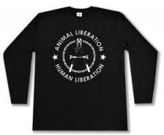 "Zum Longsleeve ""Animal Liberation - Human Liberation (Zange)"" für 13,00 € gehen."