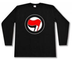 """Zum Longsleeve """"Antifa Logo (rot/schwarz, ohne Schrift)"""" für 13,00 € gehen."""