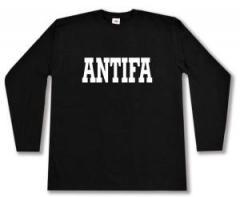 """Zum Longsleeve """"Antifa Schriftzug"""" für 12,67 € gehen."""