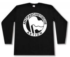 """Zum Longsleeve """"Antifaschistische Aktion (Original von 1932 in weiß)"""" für 12,67 € gehen."""
