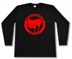 """Zum Longsleeve """"Antifaschistische Aktion (rot/rot)"""" für 13,00 € gehen."""