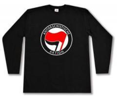 """Zum Longsleeve """"Antifaschistische Aktion (rot/schwarz)"""" für 13,65 € gehen."""