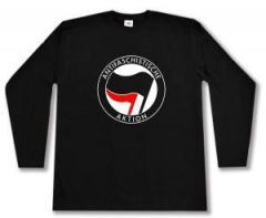 """Zum Longsleeve """"Antifaschistische Aktion (schwarz/rot)"""" für 13,65 € gehen."""