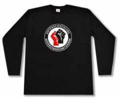 """Zum Longsleeve """"Antifaschistisches Widerstandsnetzwerk - Fäuste (rot/schwarz)"""" für 14,62 € gehen."""