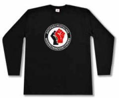 """Zum Longsleeve """"Antifaschistisches Widerstandsnetzwerk - Fäuste (schwarz/rot)"""" für 14,62 € gehen."""