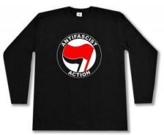 """Zum Longsleeve """"Antifascist Action (rot/schwarz)"""" für 12,67 € gehen."""