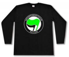 """Zum Longsleeve """"Antispeziesistische Aktion (grün/schwarz)"""" für 14,00 € gehen."""