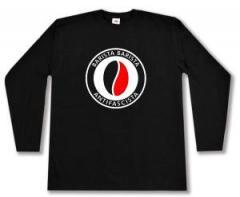 """Zum Longsleeve """"Barista Barista Antifascista (Bohne)"""" für 13,00 € gehen."""