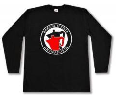 """Zum Longsleeve """"Barista Barista Antifascista (Moka)"""" für 13,00 € gehen."""