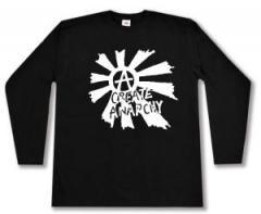 """Zum Longsleeve """"Create Anarchy"""" für 12,67 € gehen."""