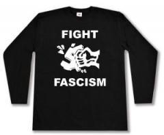 """Zum Longsleeve """"Fight Fascism"""" für 12,67 € gehen."""