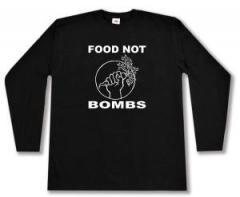 """Zum Longsleeve """"Food Not Bombs"""" für 12,67 € gehen."""
