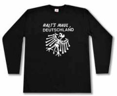 """Zum Longsleeve """"Halt's Maul Deutschland (weiß)"""" für 13,00 € gehen."""