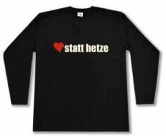 """Zum Longsleeve """"herz statt hetze"""" für 13,00 € gehen."""