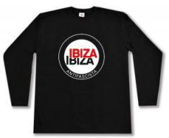 """Zum Longsleeve """"Ibiza Ibiza Antifascista (Schrift)"""" für 13,00 € gehen."""