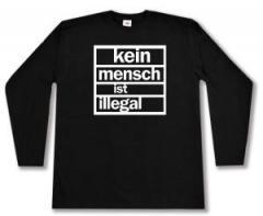 """Zum Longsleeve """"kein mensch ist illegal"""" für 12,67 € gehen."""