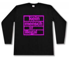 """Zum Longsleeve """"Kein Mensch ist illegal (pink)"""" für 12,67 € gehen."""