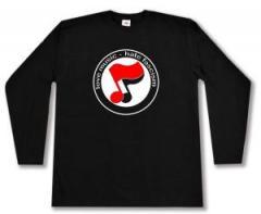 """Zum Longsleeve """"love music - hate fascism (Noten)"""" für 13,00 € gehen."""