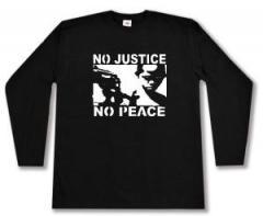 "Zum Longsleeve ""No Justice - No Peace"" für 13,00 € gehen."
