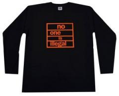 """Zum Longsleeve """"no one is illegal"""" für 13,00 € gehen."""