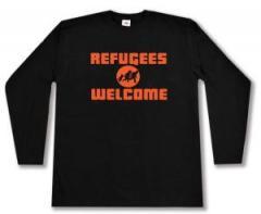 """Zum Longsleeve """"Refugees welcome (Quer)"""" für 13,00 € gehen."""