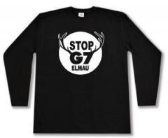 """Zum Longsleeve """"Stop G7 Elmau"""" für 13,00 € gehen."""