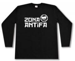 """Zum Longsleeve """"Zona Antifa"""" für 12,67 € gehen."""