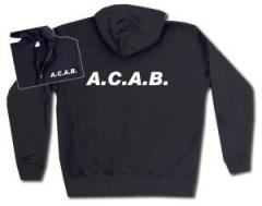 """Zur Kapuzen-Jacke """"A.C.A.B."""" für 30,00 € gehen."""
