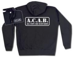 """Zur Kapuzen-Jacke """"A.C.A.B. - All cops are bastards"""" für 30,00 € gehen."""
